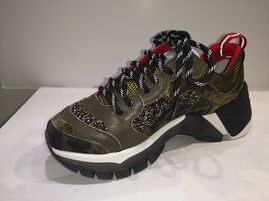 SMR Baskets 334E3 cuir forest